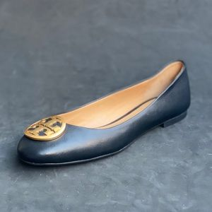 TORY BURCH leather ballet flats